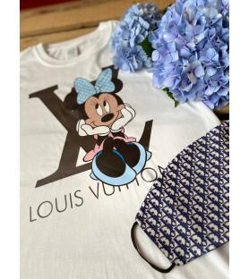 Camiseta  dibujo LV Lazo azul.