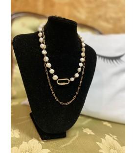 Collar Perlas y cadena.